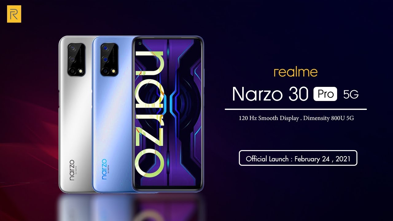 Realme Narzo pro 5g and 30a, Earbuds Set To Launch In India On 24 February