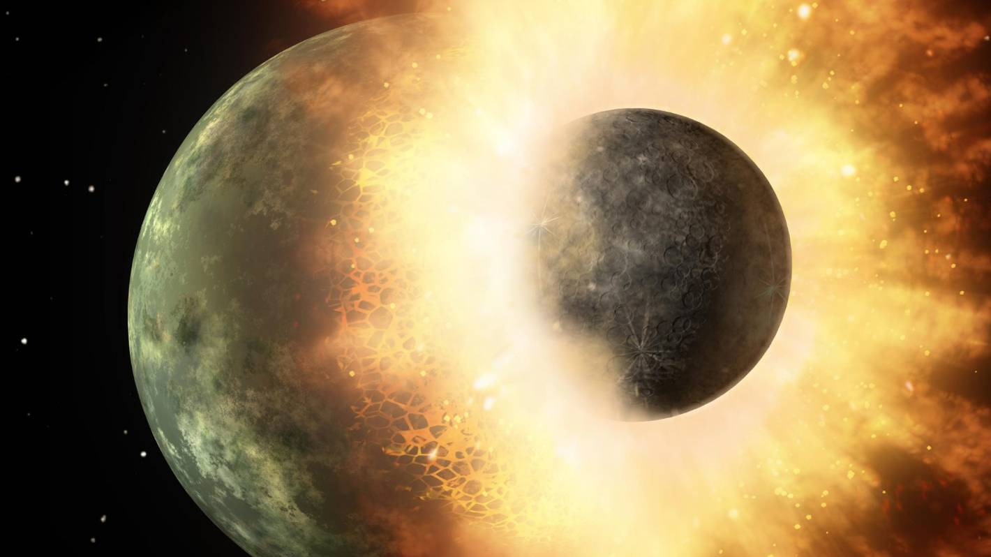 Researcher Explains Remains of an Alien World Theia Still a Part of Earth Mantle
