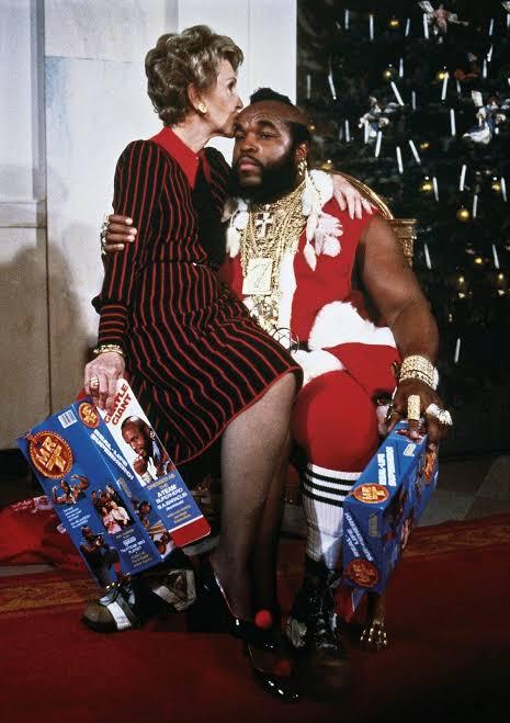 Mr. T And Nancy Reagan