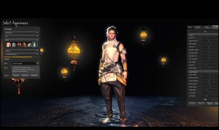best mmorpg character creation