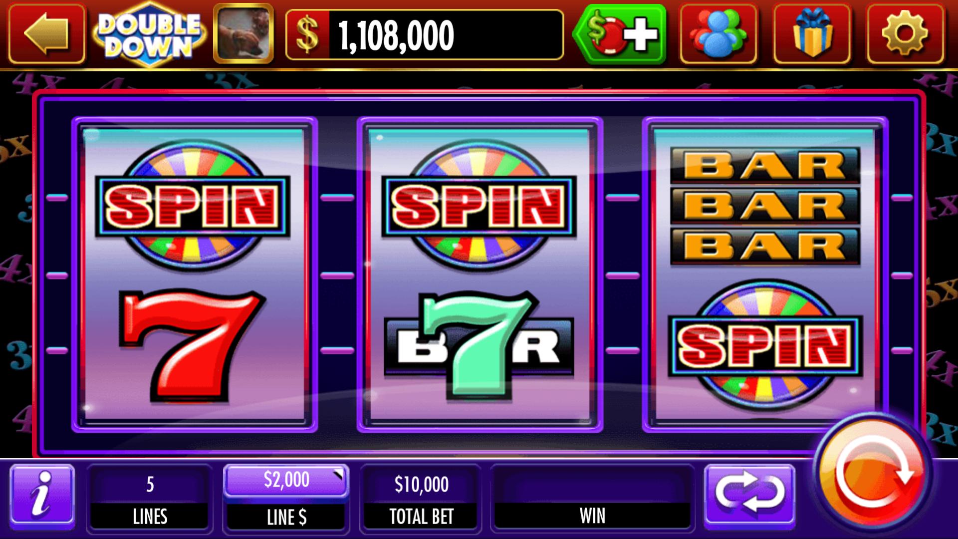 DoubleDown Casino Game Interface