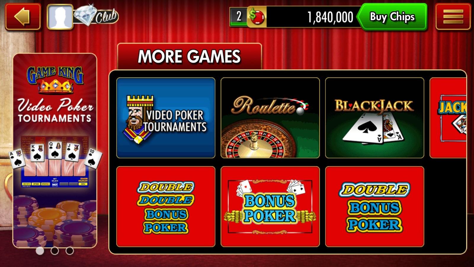 DoubleDown Casino Interface Screenshot