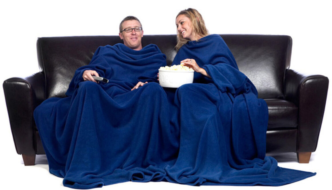 Two Person Snuggie: The Official blanket with Sleeves
