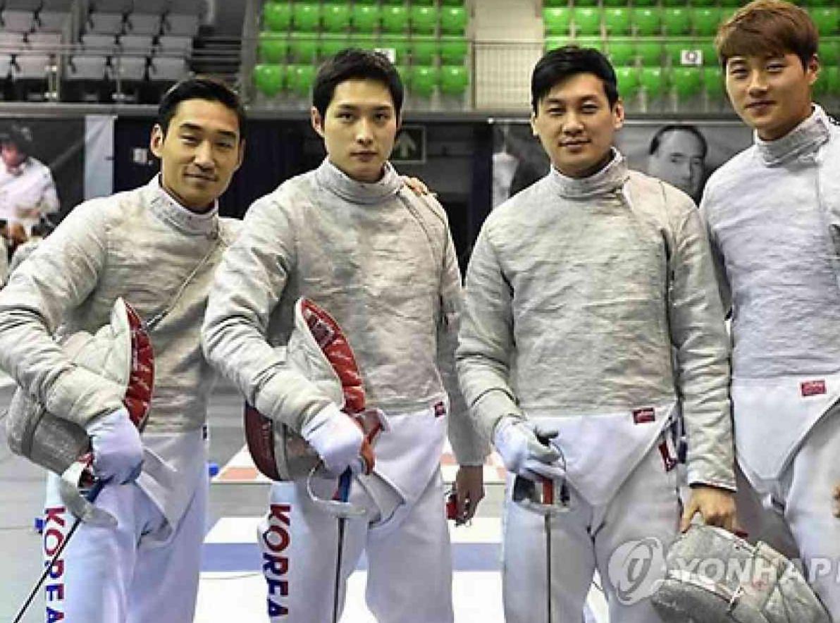 fencing men's sabre team